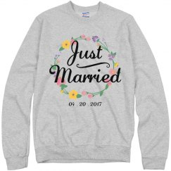 Customizable Floral Just Married
