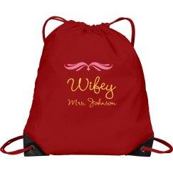 Wifey Drawstring Bag