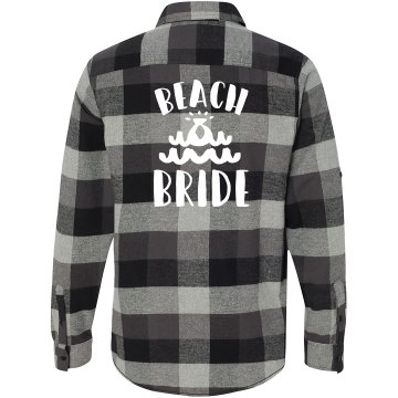 Beach Bride Flannel Shirt