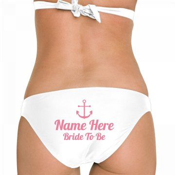 Beach Bride to Be Custom Name