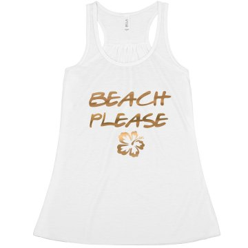 Beach Please Bride Bachelorette tank top