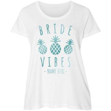 Beachy Bride Vibes Plus Tee