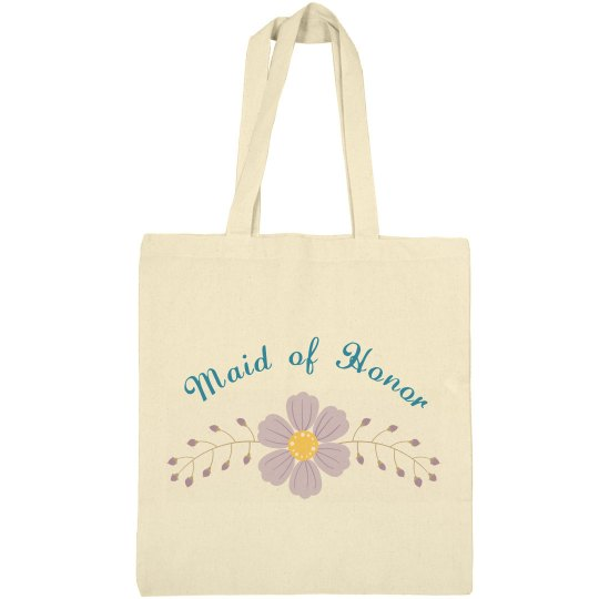 Beautiful tote bag for the maid of honor