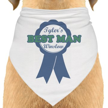 Best Man Dog Bandana