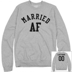 Married AF Funny Wedding Gift