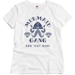 Custom Mermaid Gang Bachelorette Party Matching Tees