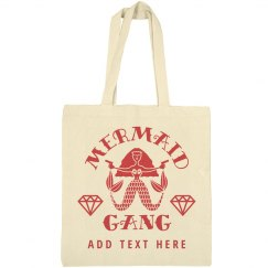Bachelorette Party Nautical Mermaid Gang Custom Totes