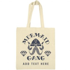 Custom Mermaid Gang Bridesmaid Nautical Tote Bag Gift