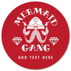 Custom Mermaid Gang Bridesmaid Bachelorette Party Gift