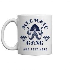 Cute Custom Mermaid Gang Bachelorette Party Coffee Mug