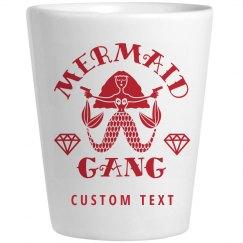 Cute Custom Bachelorette Shot Glass Mermaid Gang Gift