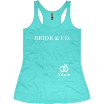 Bride & Co Teal Tank Top Bachelorette