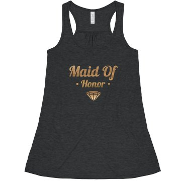 Bling Maid of Honor Gold Diamond