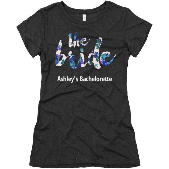 Blue Floral Bachelorette