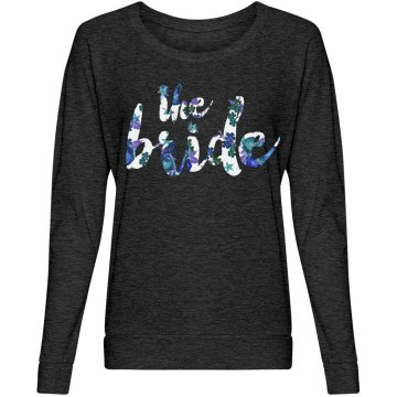 Blue Floral Bride To Be