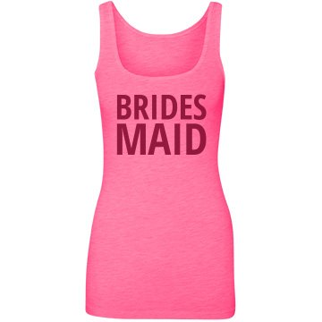 Bold Neon Bridesmaid