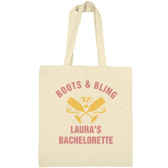 Boots and Bling Bachelorette Tote
