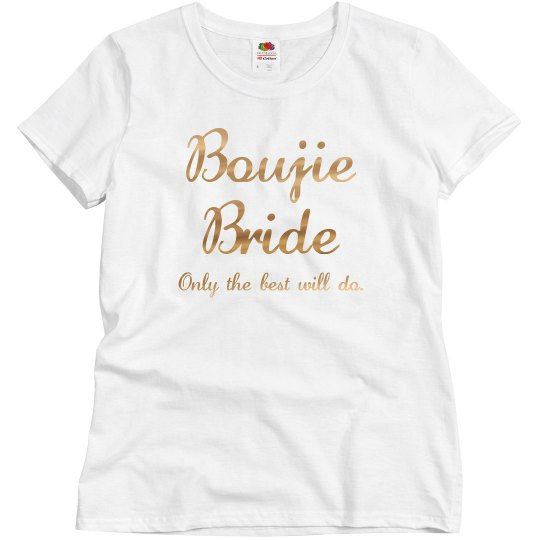 Bougie Bride: Only the best will do Gold Glitter