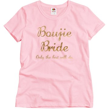 Bougie Bride: Only the best will do Gold Metallic