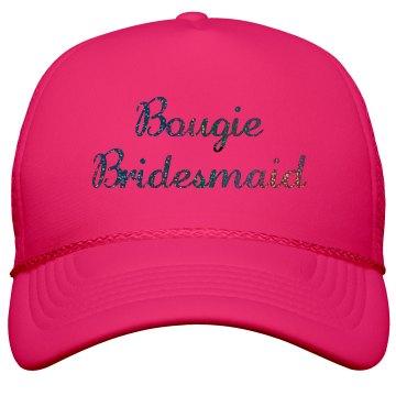 Bougie Bridesmaid Black Glitter