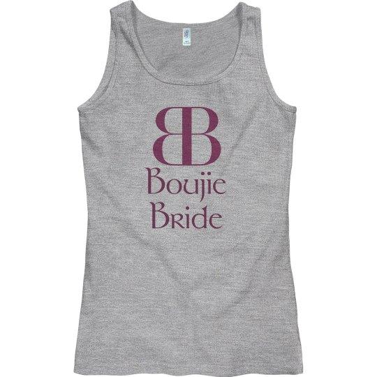 Boujie Bride Logo Dark Pink Tank