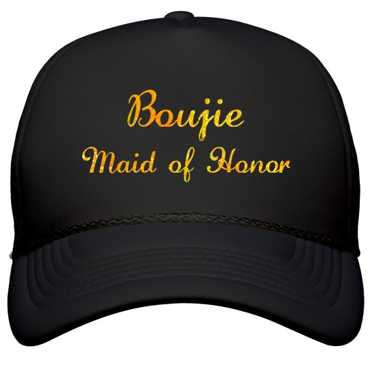 Boujie Customizable Bridal Party Gold Glitter Text Cap