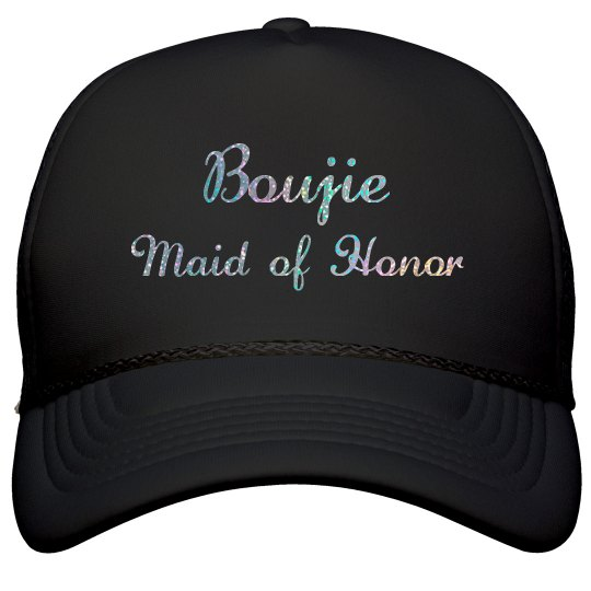 Boujie Customizable Bridal Party Silver Glitter Cap