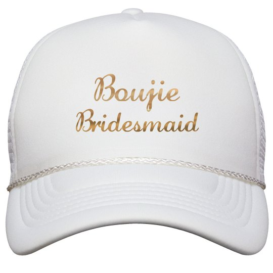 Boujie Customizable Bridesmaid Gold Metallic Text Cap