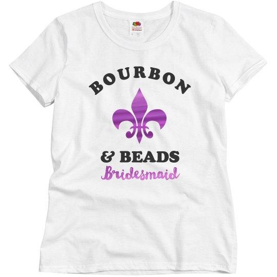 Bourbon & Beads Bridesmaid Mardi Gras