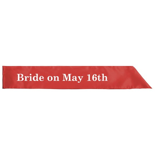 Bridal Party Custom Sash