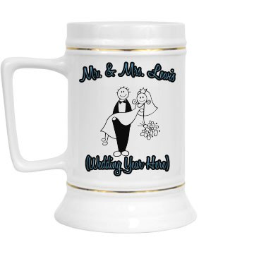 Bride & Groom Stein