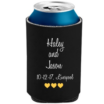 Bride and Groom Can Koozie