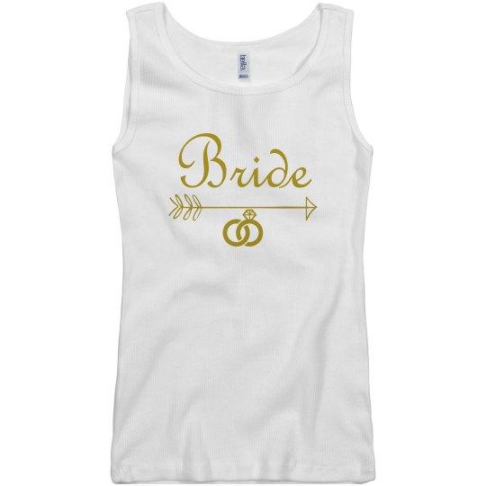 Bride Arrow Diamond Ring Tank Top