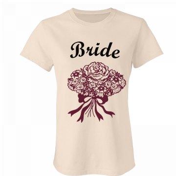 Bride Floral Bouquet Tee