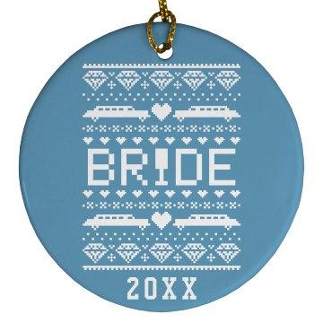Bride Gift Tag Ornament