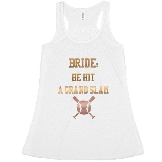 Bride: He hit a grand slam