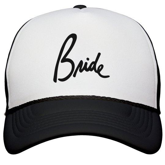 Bride Script Font Bridal or Bachelorette Hat