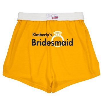 Bride Shorts With Ring