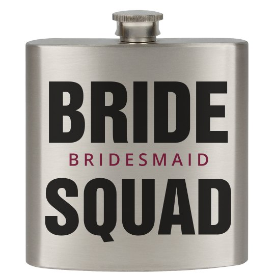 Bride Squad Bachelorette Flasks