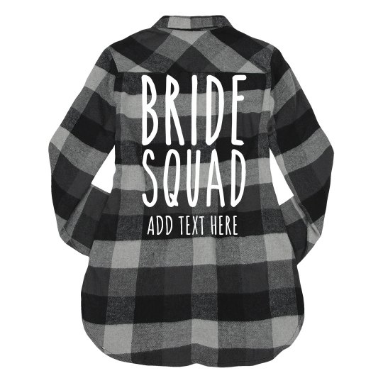 Bride Squad Bachelorette Plaid