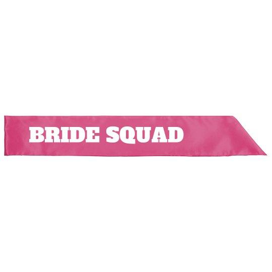 Bride Squad Bachelorette Sash