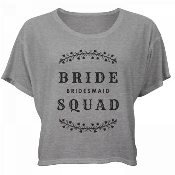 Bride Squad Bridesmaid Group Tee