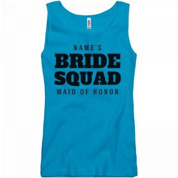 Bride Squad Custom Name Tanks