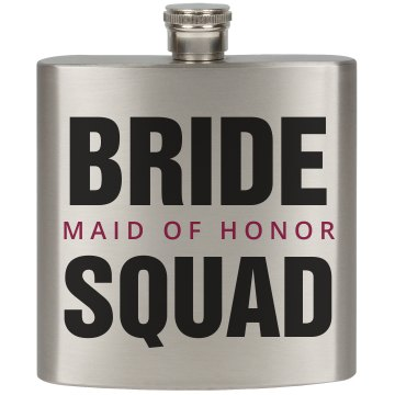 Bride Squad Party Flask MOH