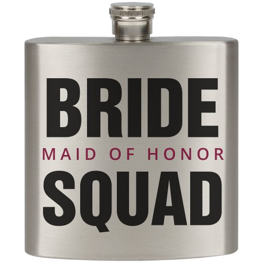 Bride Squad Party Flask MOH