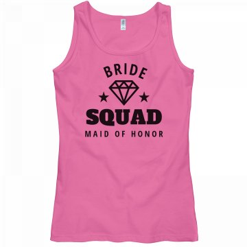 Bride Squad Tank Maid Of Honor