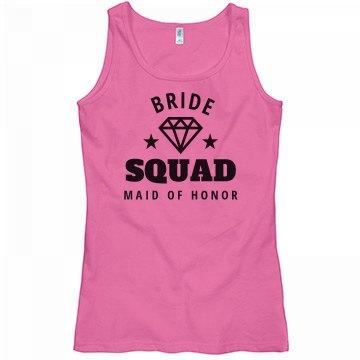 Bride Squad Tank Maid Of Honor
