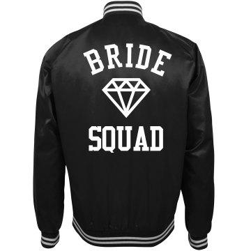 Bride Squad Trendy Bomber Jacket For Bachelorette Party