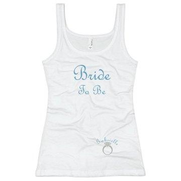 Bride Tank Top Blue