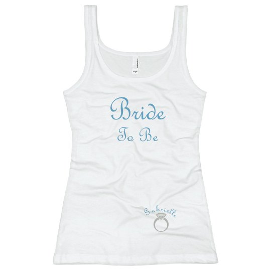 Bride Tank Top Blue